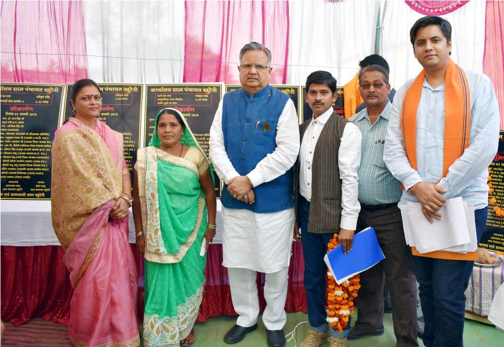 मुख्यमंत्री ने तीन गांवों में किया डेढ़ करोड़ से ज्यादा के निर्माण कार्यों का लोकार्पण-भूमिपूजन