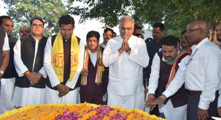 अमर शहीद वीर नारायण सिंह के योगदान को हमेशा किया जाएगा याद : बघेल