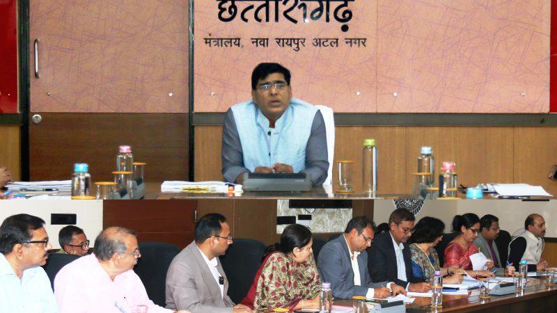 मुख्य सचिव ने प्रस्तावित मध्य क्षेत्रीय परिषद की बैठक की तैयारियों की समीक्षा की