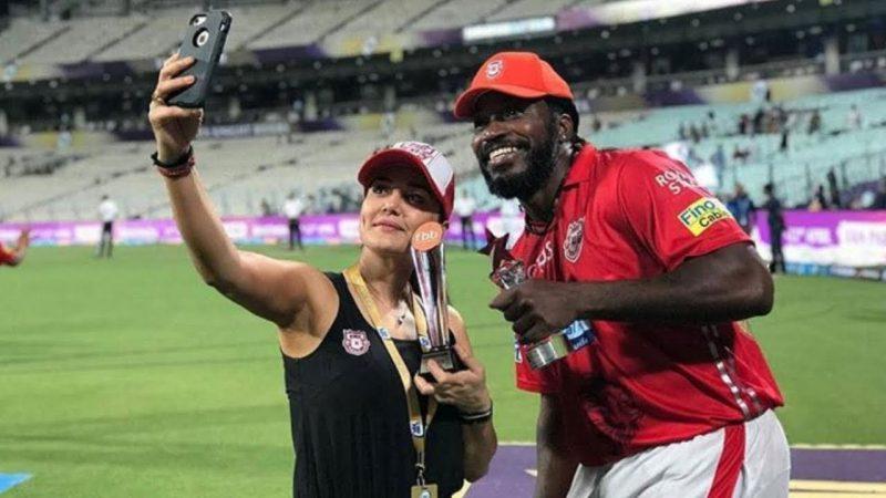 क्रिस गेल के साथ प्रीति जिंटा शेयर की खूबसूरती तस्वीर