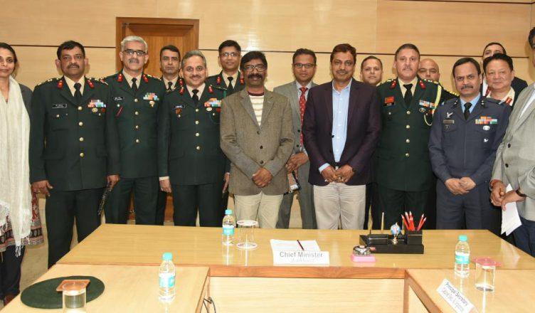 मुख्यमंत्री हेमन्त सोरेन राष्ट्रीय रक्षा महाविद्यालय के प्रतिनिधिमंडल ने भेंटवार्ता की