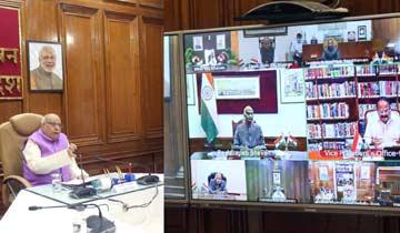 राज्यपाल ने राष्ट्रपति को वीडियो कॉन्फ्रेंस से दी कोरोना की स्थिति की जानकारी