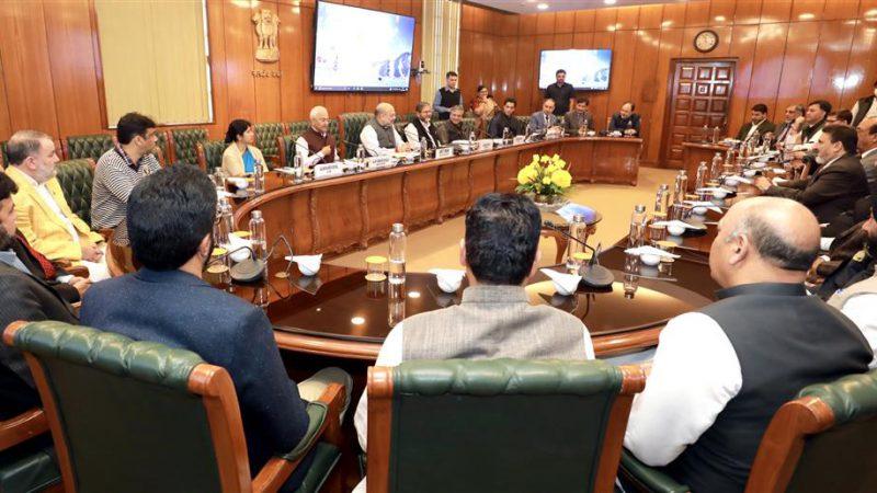 केन्द्रीय गृह मंत्री श्री अमित शाह ने जम्मू एवं कश्मीर की अपनी पार्टी के 24 सदस्यीय प्रतिनिधिमंडल से मुलाकात की