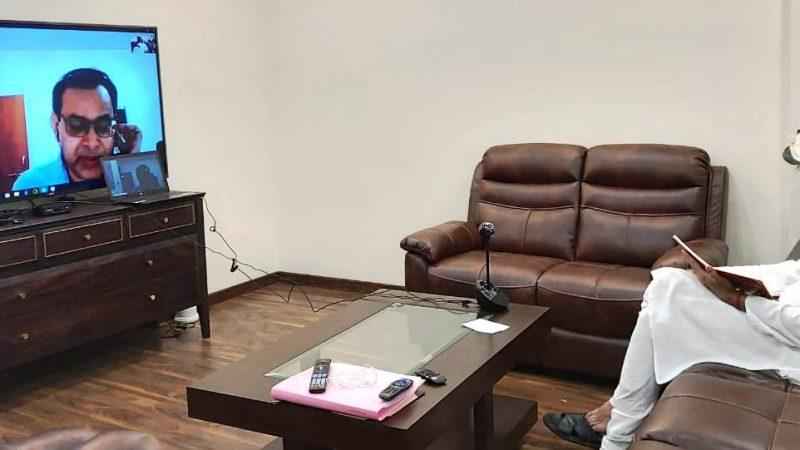 स्वास्थ्य मंत्री श्री टी.एस. सिंहदेव ने दक्षिण कोरिया के राजदूत से कोविड-19 नियंत्रण की रणनीति की ली जानकारी