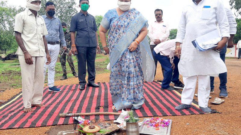मंत्री श्रीमती भेंडिया ने विभिन्न ग्रामों का भ्रमण कर विकास कार्यों का किया भूमिपूजन