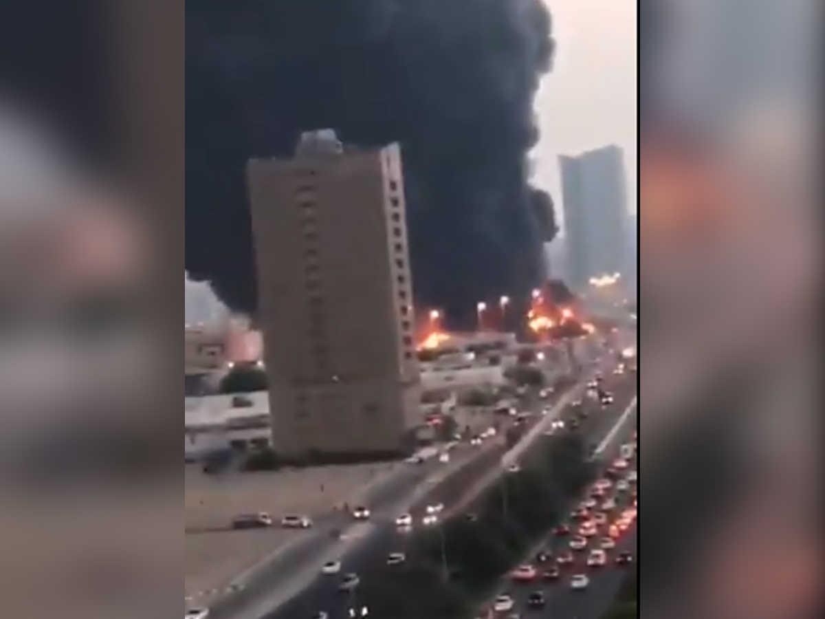 UAE के अजमान बाजार में भीषण आग