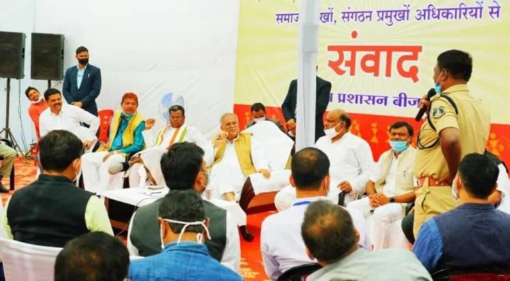 मुख्यमंत्री ने बीजापुर में विभिन्न समाज प्रमुखों एवं संगठन के प्रतिनिधियों से की सौजन्य मुलाकात