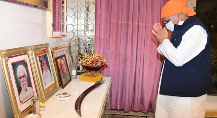 मुख्यमंत्री ने स्वर्गीय श्रीमती भाटिया को दी श्रद्धांजलि