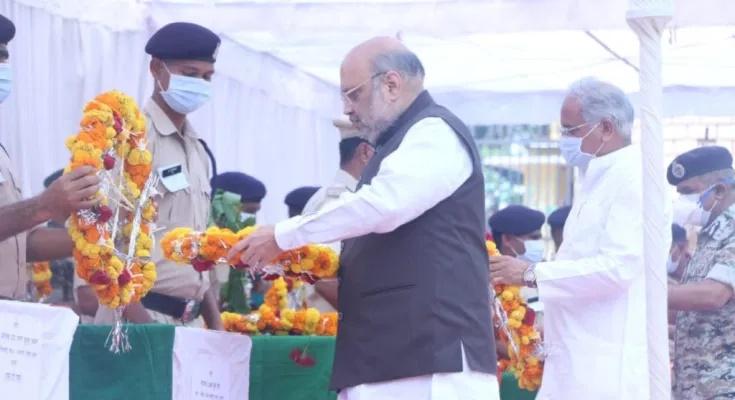 केंद्रीय गृहमंत्री अमित शाह और मुख्यमंत्री भूपेश बघेल ने नक्सली हिंसा में शहीद जवानों को अर्पित की विनम्र श्रद्धांजलि