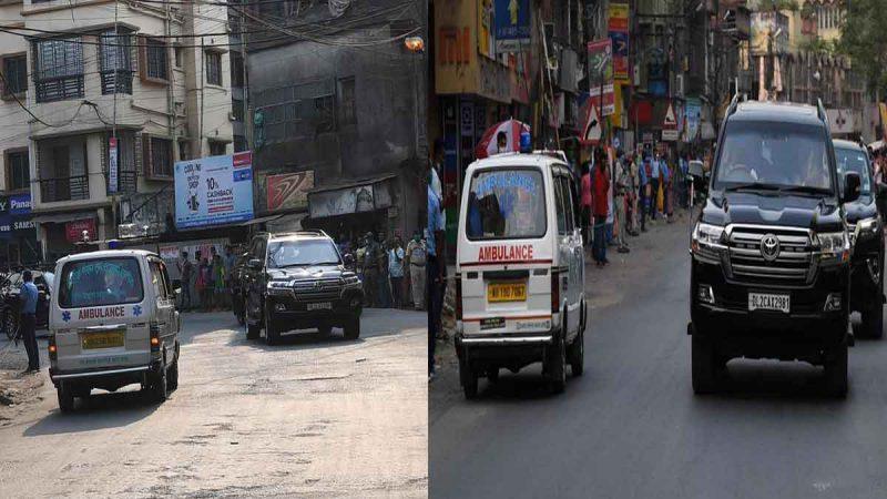 PM मोदी के काफिले के सामने आई दो ऐंबुलेंस, SPG ने प्रोटोकॉल तोड़ दिया रास्ता
