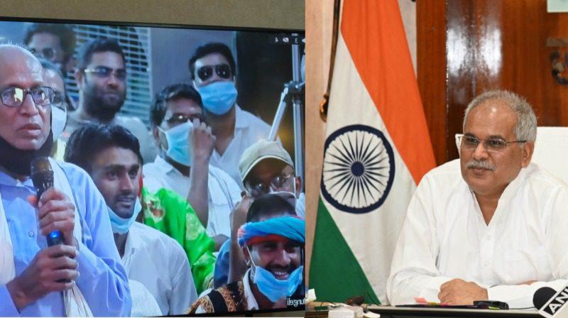मुख्यमंत्री भूपेश बघेल को बुजुर्ग किसान ने दी ढेरों दुआएं : गरीब मन के दुःख दूर करव अइसने ही चलावा राज-काज