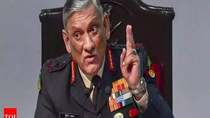 चीन-पाकिस्तान के बीच साठगांठ भारत के लिए ठीक नहीं, CDS बिपिन रावत ने चेताया